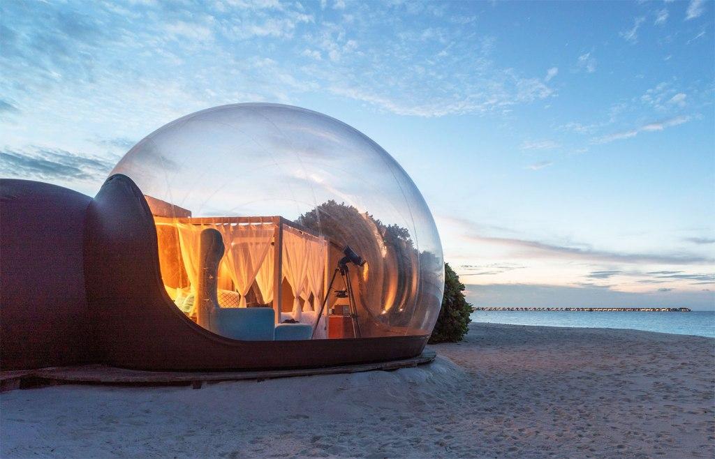 The Extraordinary Beach Bubble Experience at Seaside Finolhu