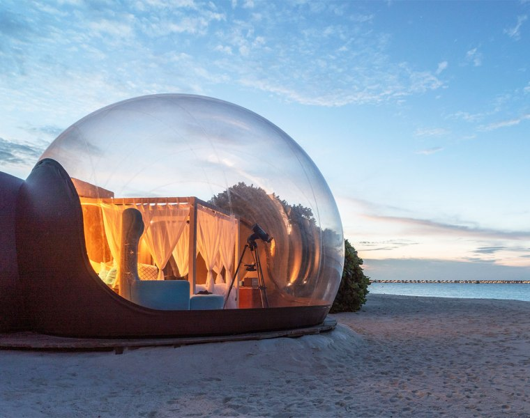 The Extraordinary Beach Bubble Experience at Seaside Finolhu