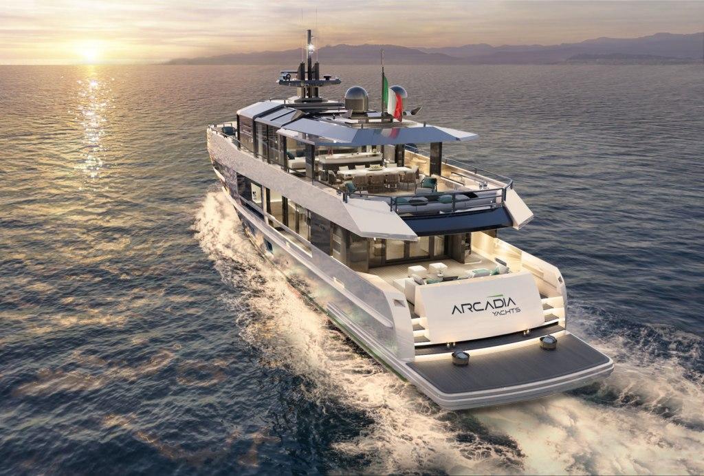 Arcadia A115 running at sea