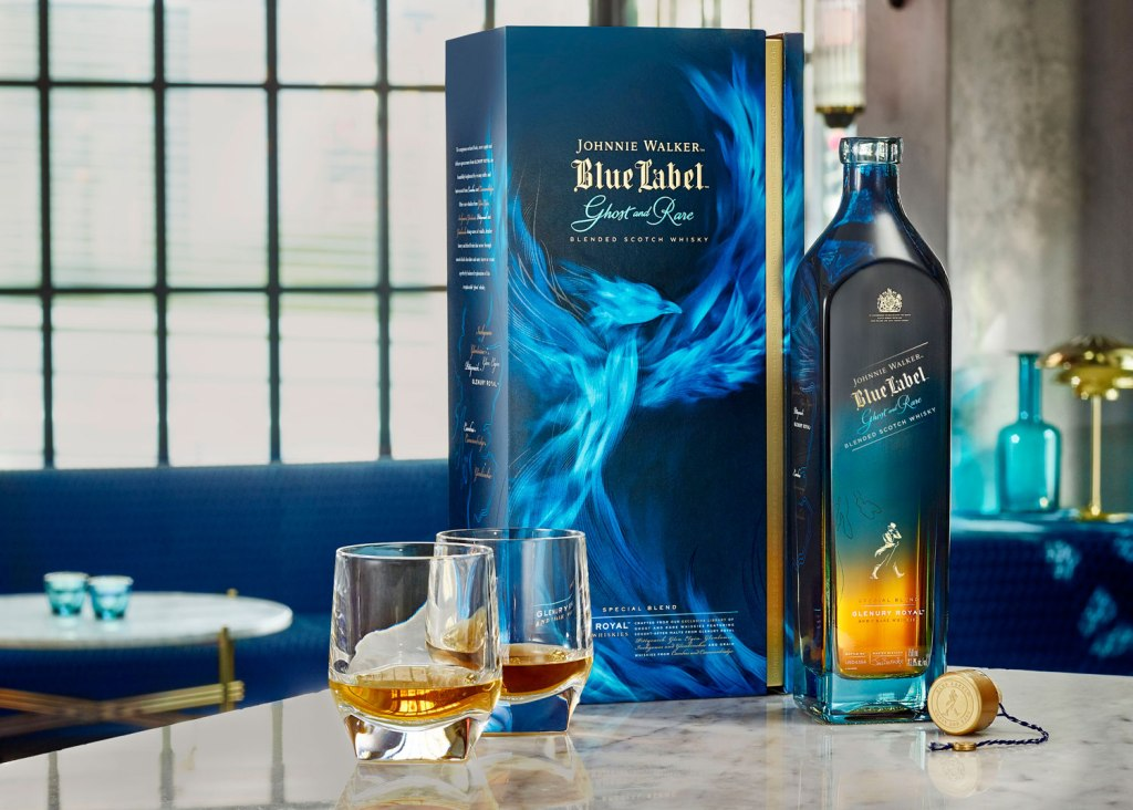 Blue Label Ghost and Rare Glenury Royal