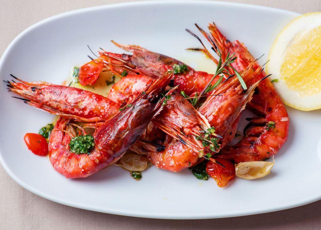 Novikov Italian Sicilian red prawns
