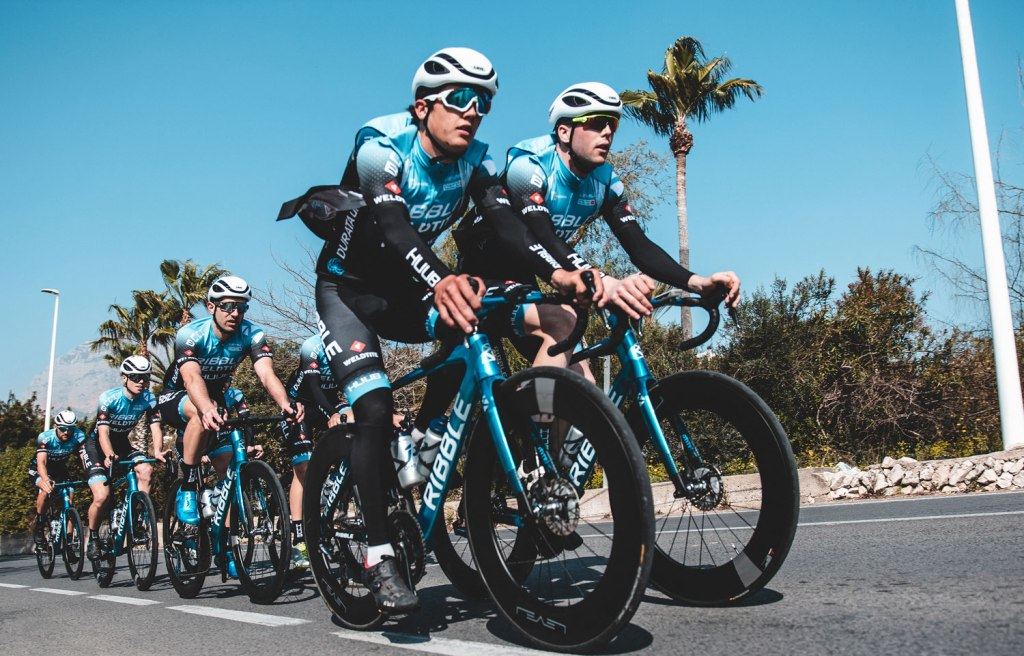 Ribble Cycle's Professional Cycling Team on the road