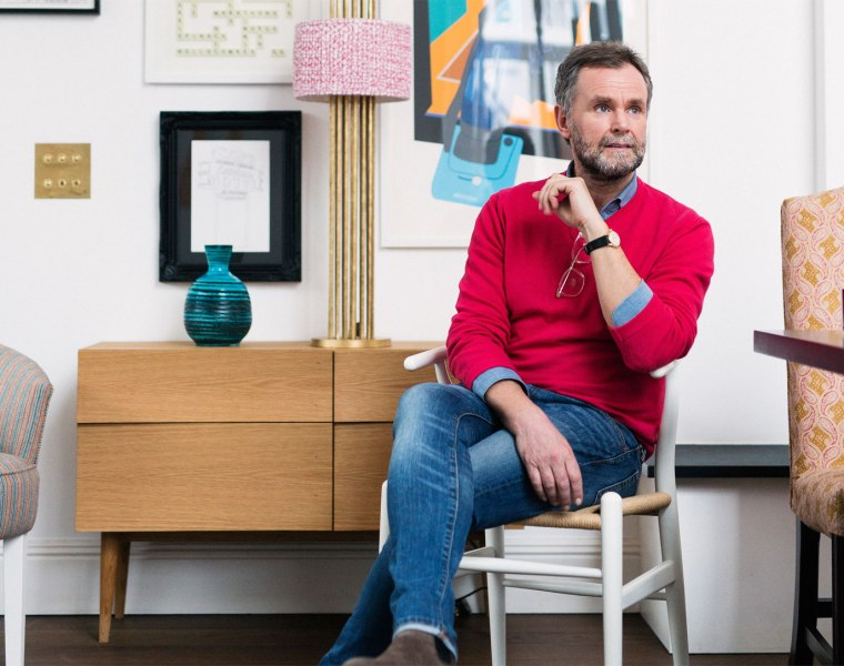 Benji Lewis the founder of Zoom That Room at his Chiswick office