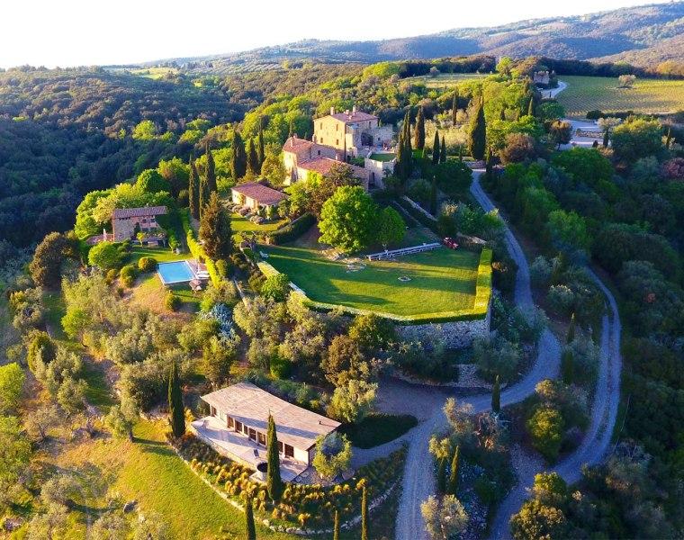 The Castello di Vicarello estate in Tuscany