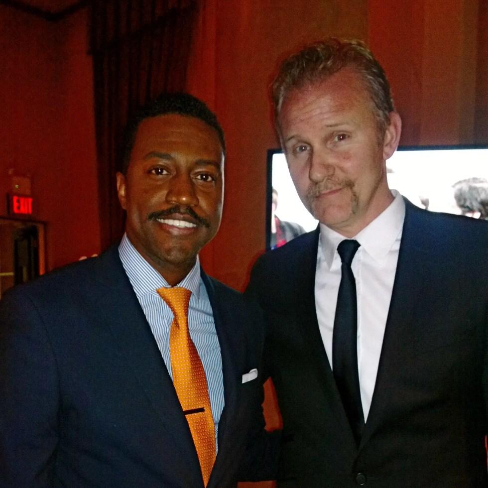 Phaon Spurlock and Morgan Spurlock at the Gotham Awards