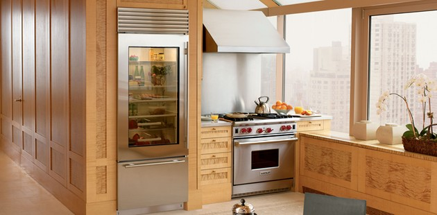 Sub Zero BI30UG Refrigerator and Freezer with Glass Door