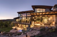 Sophisticated yet comfortable mountain modern home offers ...