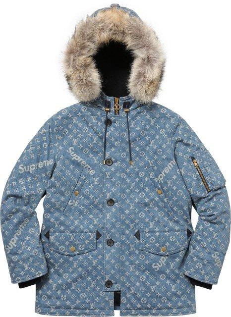 Supreme Louis Vuitton Denim Wintermantel - Louis Vuitton x Supreme