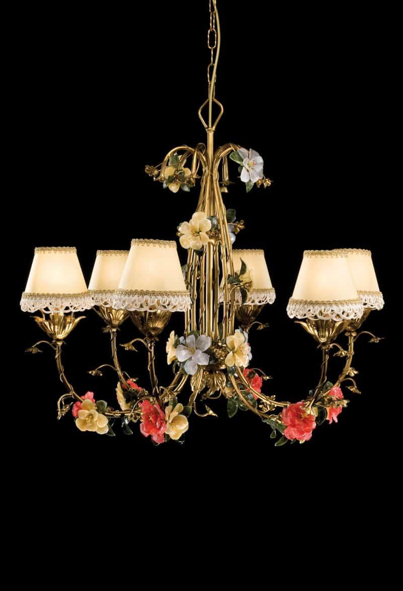 6 x 60 w, ø 81 cm, altezza 40 cm, sospensione 281 cm. Lampadari Classici Italiani Di Lusso Per Salone Cucina Salotto Camera Bagno Ed Altre Stanze