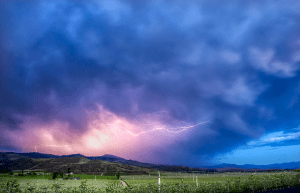 Lightning Across the Rogue Valley by Sue Newman