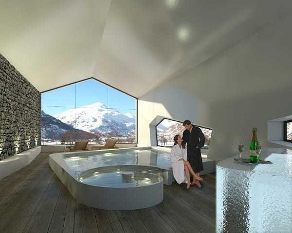 Luxury spa at the Andermatt Swiss Alps Resort