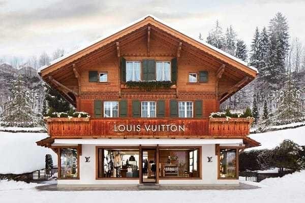Louis Vuitton's new Winter Resort boutique store in Gstaad, Switzerland.