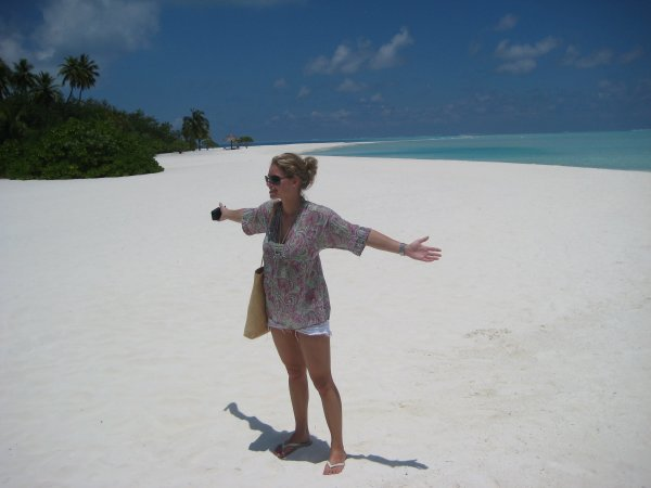 Myrthe in the Maldives