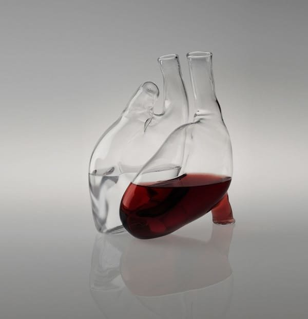 heart decanter by cuore