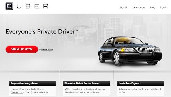uber luxury car rental app