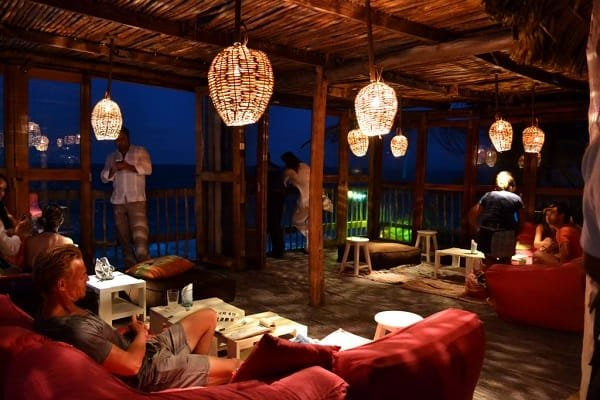 Bar lounge at the Papaya Playa Project Tulum