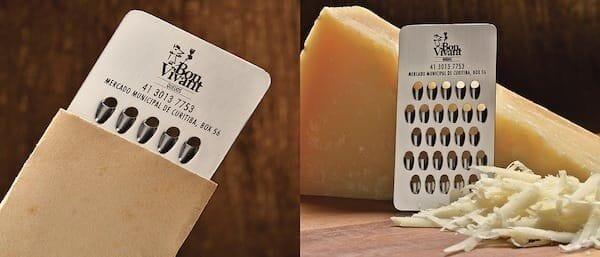 cheese grater business card bon vivant