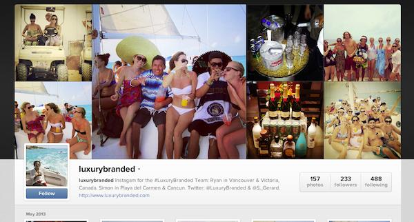 luxury marketing on instagram