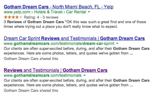 gotham dream car testimonials
