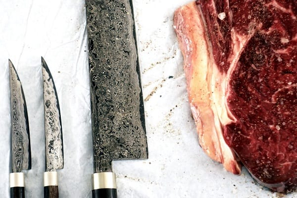 Knives and steaks