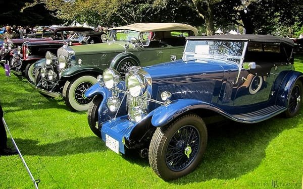 Classic cars at the Luxury Supercar Weekend