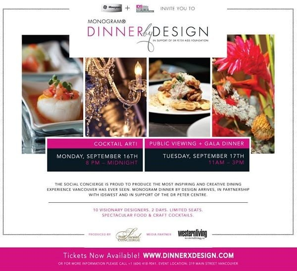 Dinner by Design Vancouver