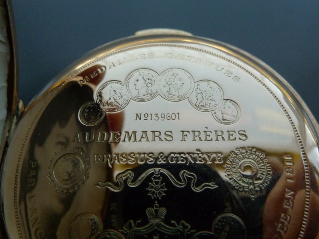 FDR's 18K Gold Repeater Pocket Watch Hits The Market Inscription