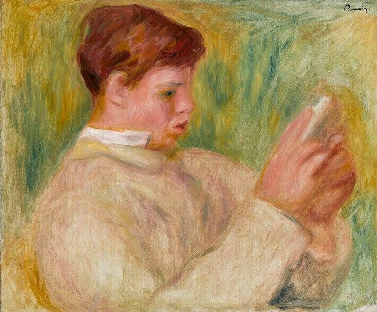 Jean Renoir Lisant by Pierre-Auguste Renoir