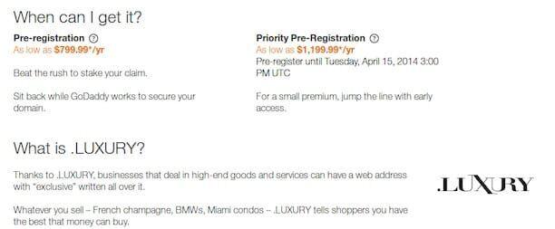 luxury domain register