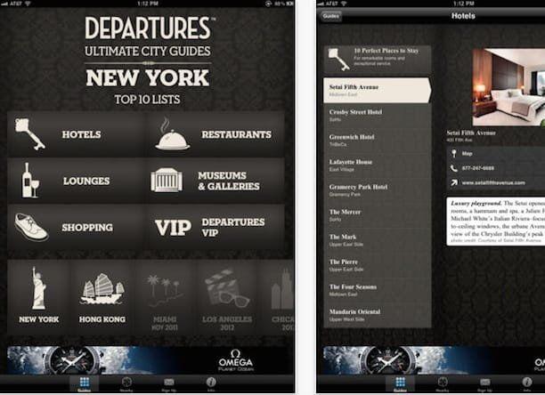 departures magazine ipad app