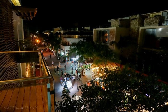 View of 5th Avenue from the Artisan Hotel Playa del Carmen