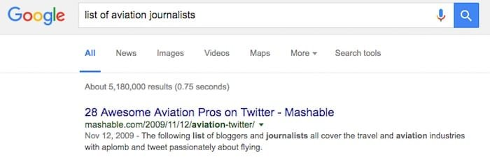 aviation pros find google