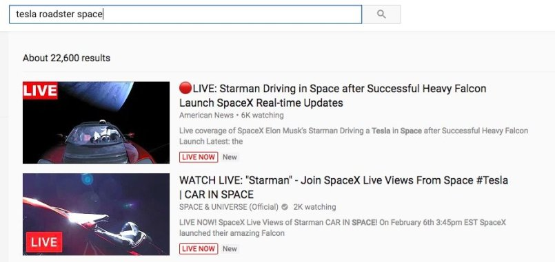 youtube-results-tesla-space
