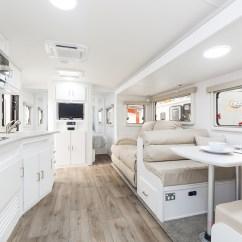 Dexter Kitchen Wood Table Sets Cell Peninsula Caravan Hire - Luxury