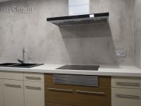 parede de cocina con microcemento luxuryCiment