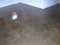 Acid Stained Concrete Floors & Countertops - Model Home