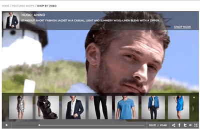 Hugo Boss used clickable video for its summer catalog