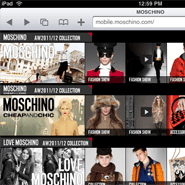 Moschino's mobile site
