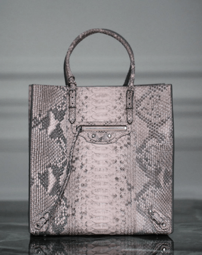 Balenciaga Papier Zip Around Python