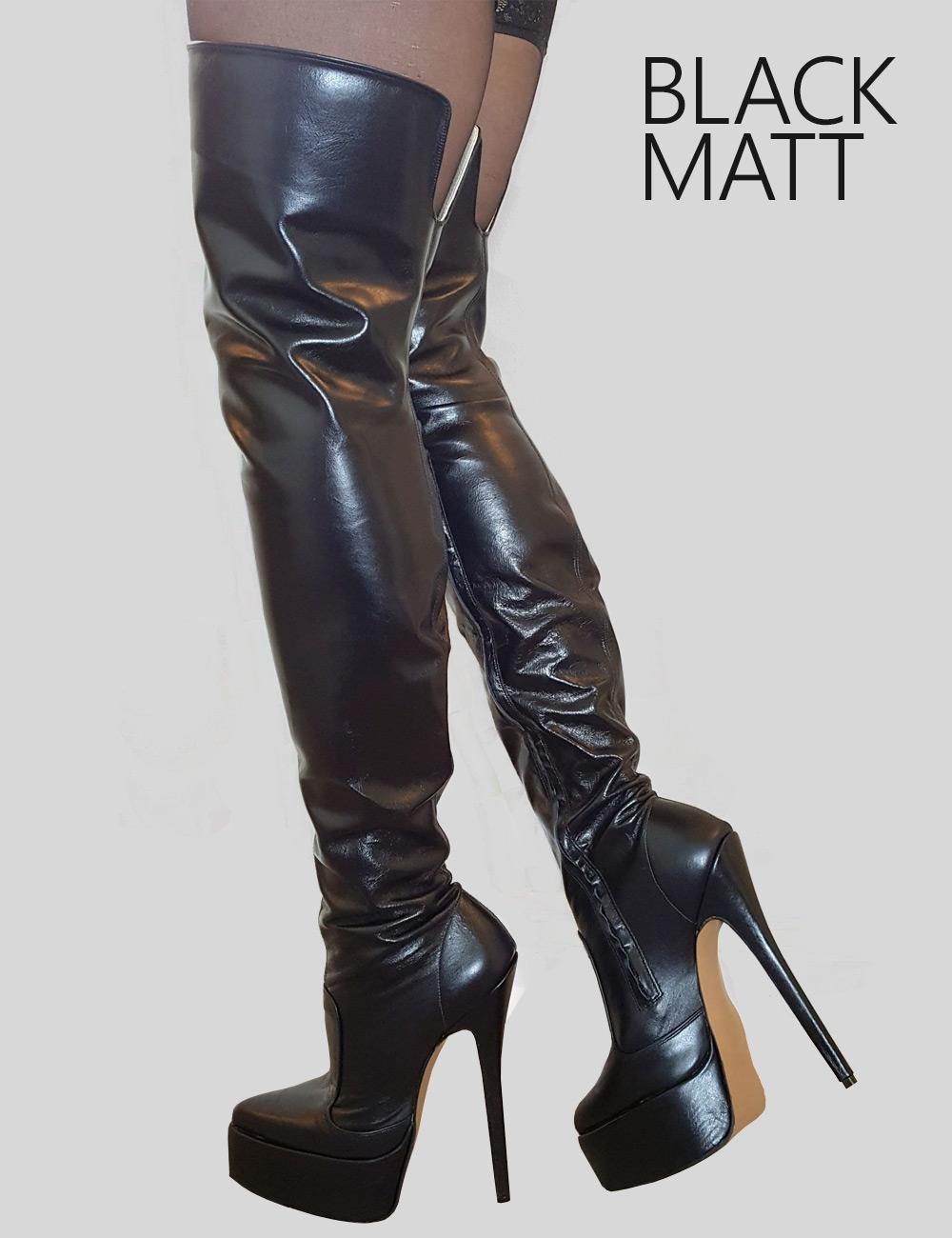 Platform Thigh Boots - Luxury Fetish Heels