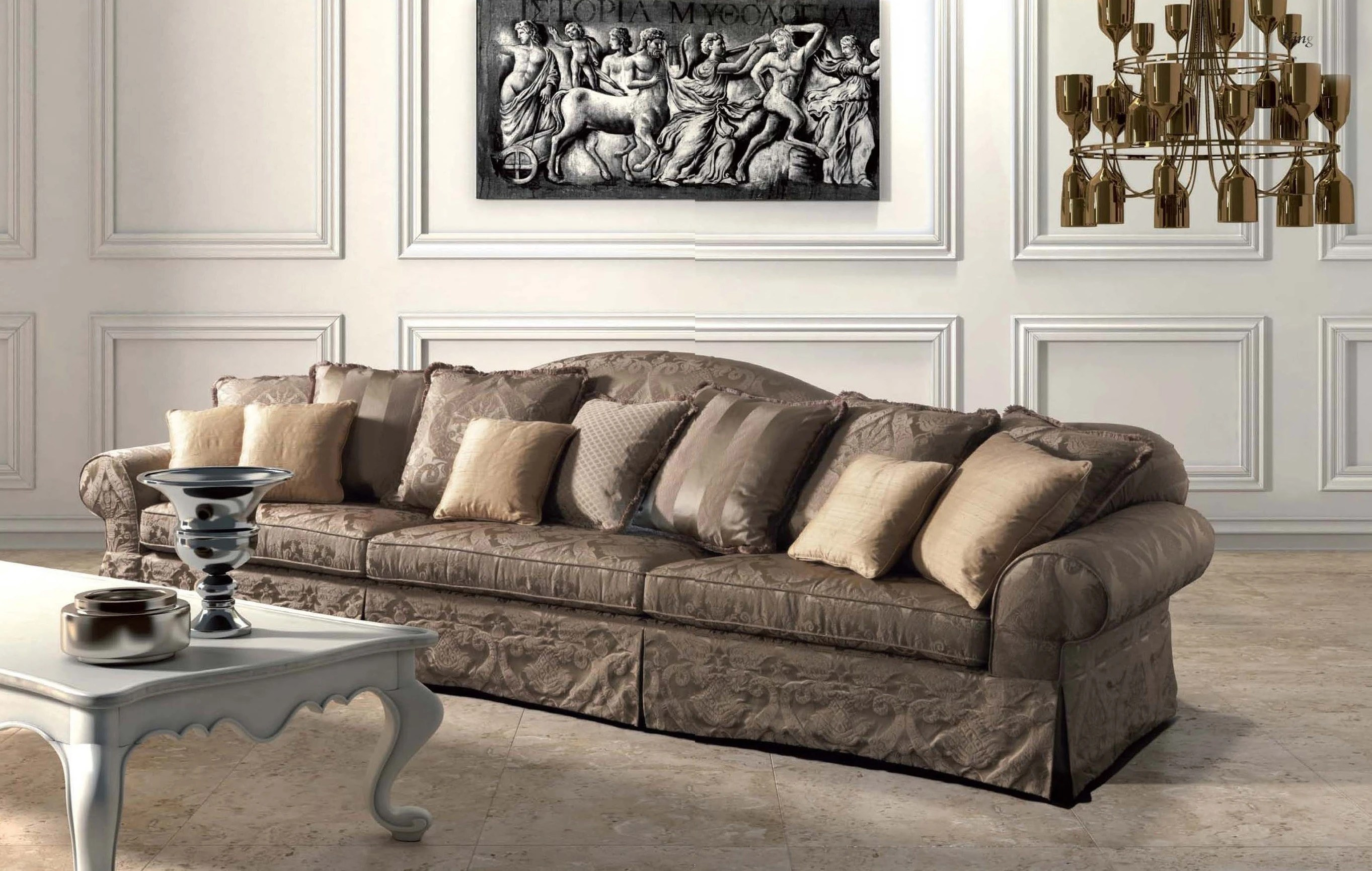 sofa 250cm twin sleeper faux leather three seater sofa, king - asnaghi (made in italy) luxury ...