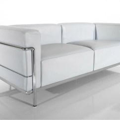 Lc3 Sofa Buoyant Fairfield 2 Seater Two On A Frame Of Chrome Plated Steel