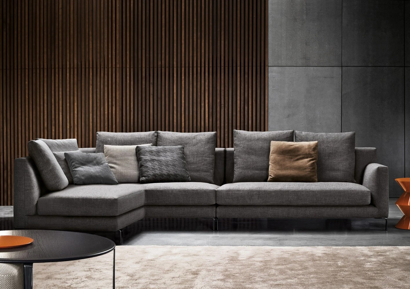 l shaped sofa living room palermo rattan effect corner set modular allen minotti - luxury furniture mr