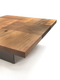 Coffee table with polished top made of Kauri wood Block ...