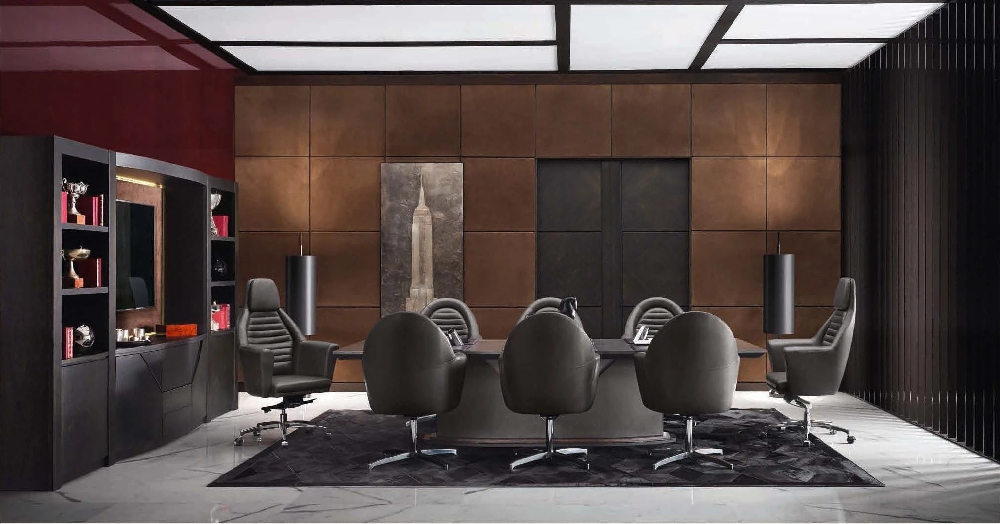 swivel chair brown posture benefits leather office on wheels gt, smania - luxury furniture mr