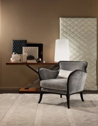 Chair of wood and textile MINI BRERA, MOBILIDEA - Luxury ...