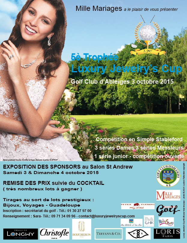 trophee luxury jewelry's cup 2015 golf club ableiges mille mariages