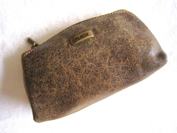 Ferchi Brown Leather Accessories Pouch
