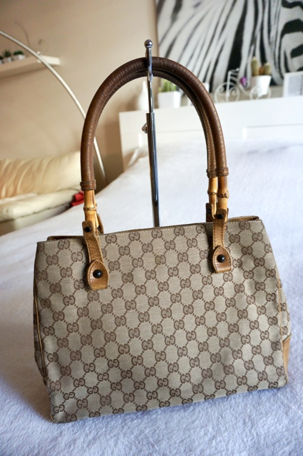 Gucci Bamboo Canvas Tote Bag-11