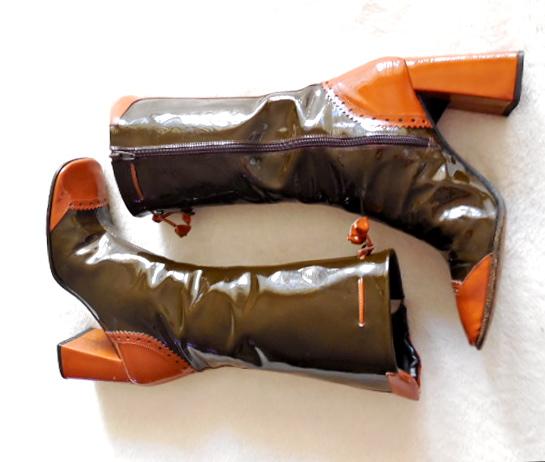 Stephanie De Raucourt Patent Leather Boots-2